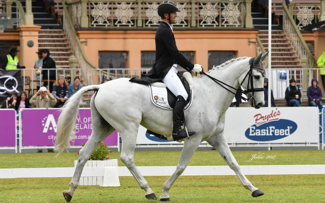 NEW ZEALANDER CLARK JOHNSTONE LEADS ADELAIDE CCI4* AFTER PRYDE'S EASIFEED DRESSAGE DAY