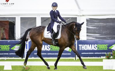 MADELINE WILSON AND ACES HIGH SCORE SUPERBLY AT DRESSAGE DAY